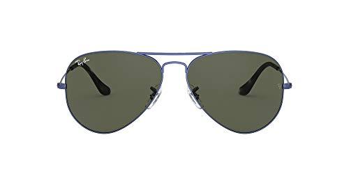 Ray-Ban Aviator Large Metal RB3025-918731-55 Gafas, Azul, 55 Unisex Adulto