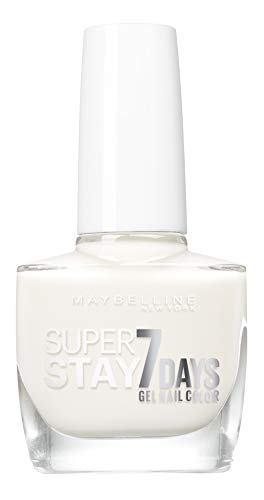 Maybelline New York – Vernis à Ongles Professionnel – Technologie Gel – Super Stay 7 Days – Teinte : Pure White (71)