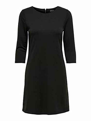 Only Onlbrilliant 3/4 Dress Jrs Noos Vestido, Negro (Black Black), Large para Mujer
