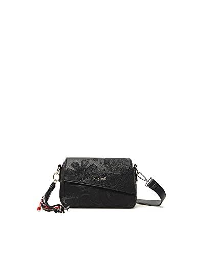 Desigual Bols_Deja VU Phuket Mini, Mano Bag para Mujer, Negro, Einheitsgröße