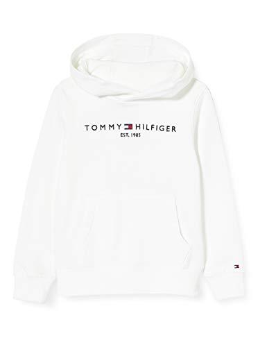 Tommy Hilfiger Essential Crossover Hoody Sudadera con Capucha, Blanco (White 658/170 Ybr), 80 cm Bebe-Niños