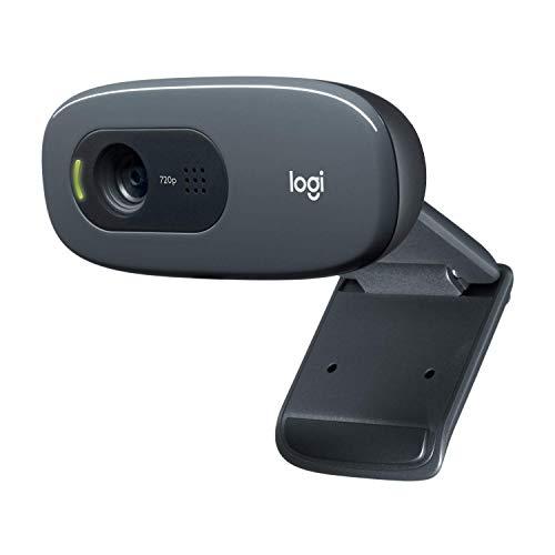 Logitech C270 Webcam HD, 720p/30fps, Video-Llamadas HD Amplio Campo Visual, Corrección de Iluminación, Micrófono Reductor de Ruido, Skype, FaceTime, Hangouts, WebEx, PC/Mac/Portátil/Tablet/Chromebook