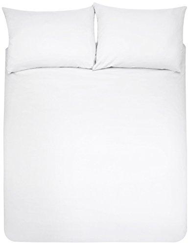 Amazon Basics Duvet Set, Blanco, 220cmx250cm/ 50cmx80cmx2