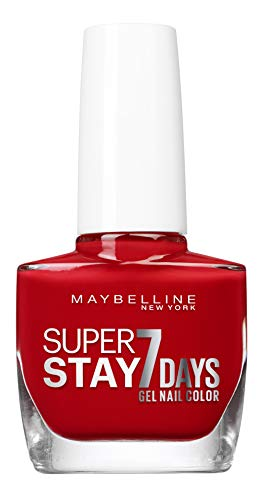 Maybelline New York – Vernis à Ongles Professionnel – Technologie Gel – Super Stay 7 Days – Teinte : Passionate (08)