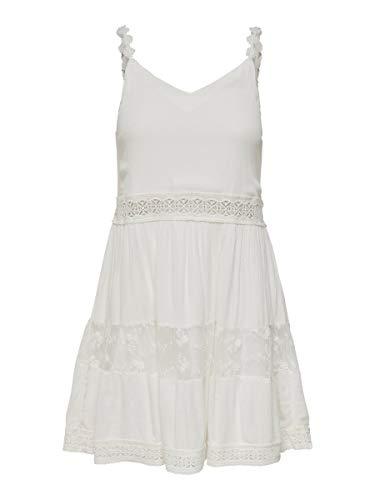 Only Onlkarmen Anne S/l Short Dress Wvn Noos Vestido, Multicolor (Cloud Dancer Cloud Dancer), 42 (Talla del Fabricante: 40) para Mujer