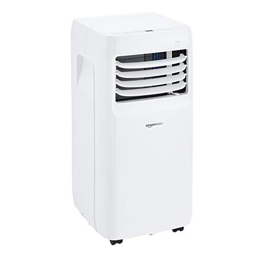 Amazon Basics - Aire acondicionado portátil con deshumidificador, 8000 BTU/H, Energía Clase A