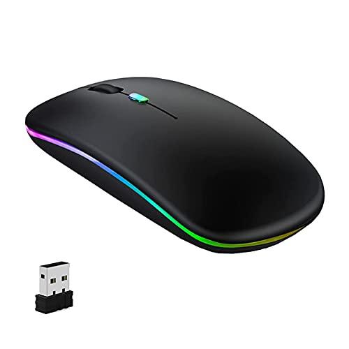 GeekerChip Ratón inalámbrico,Ratón 2.4G Inalámbrico Recargable,Ratón Inalámbrico Silencioso de Tres Modos,para Portátil,PC,Macbook