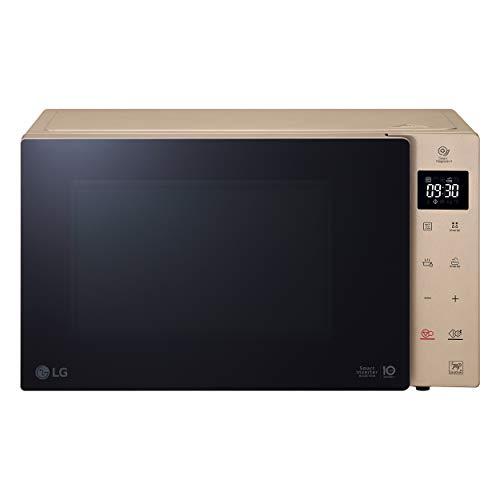 LG MH6535GISA Grill Smart Inverter Microondas 1000 W, Grill 900 W, Micro+Grill 1450 W, 25 litros de capacidad, Display LED, Plato interior 292 mm, Ash Blonde