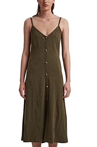 edc by Esprit 051CC1E306 Vestido, 350/KHAKI Green, L Regular para Mujer