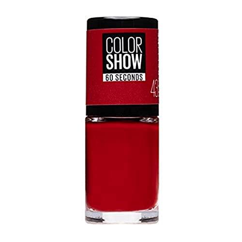 Maybelline New York Color Show Esmalte de Uñas, Tono: Color Show 043 Red Apple