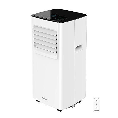 Cecotec Aire Acondicionado Portátil con Mando a Distancia y Temporizador EnergyClima 7050. 3 en 1, Refrigeración, ventilación y deshumidificación, 1800 Frigorías, 7000 BTU, Caudal 300 m³/h