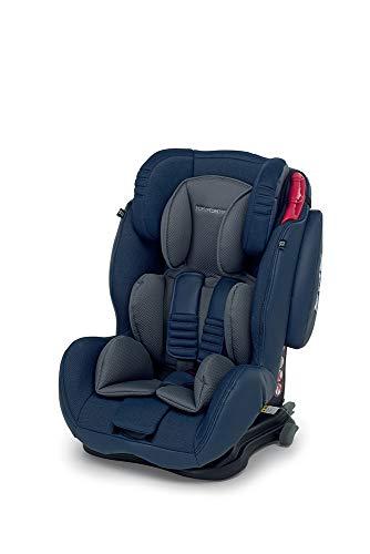 Foppapedretti Isodinamik, Silla de coche grupo 1/2/3 Isofix, desde los 9 meses hasta los 12 años aproximadamente, Azul