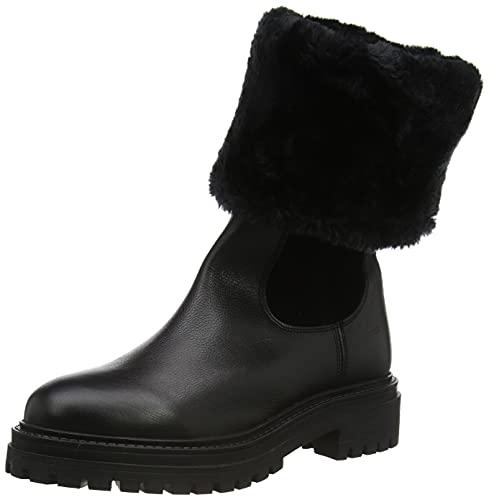 Geox D IRIDEA M, Snow Boot Mujer, Schwarz C9999, 36 EU