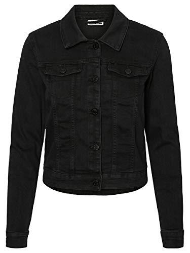 NAME IT Nmdebra L/s Wash Denim Jacket Noos Chaqueta Vaquera, Negro (Black Black), 42 (Talla del Fabricante: Large) para Mujer