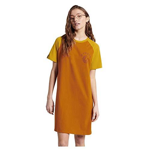 Superdry Boho Tshirt Dress Vestido, Espíritu Calabaza, Medium para Mujer