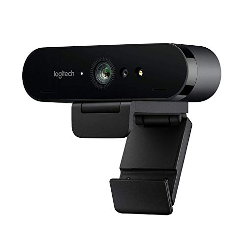 Logitech Brio Ultra HD Pro Webcam, Streaming Fluido 1080p/60fps, Campo Visual Ajusable, Zoom X5, Compatible Avec Skype, WebEx, Cisco Jabber, Zoom, Windows Hello, PC/Mac/Portátil/Chrome, Color Negro