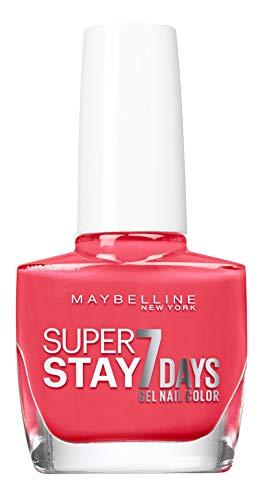 Esmalte para uñas rosa salsa Maybelline New York Tenue & Strong Pro 490