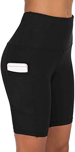 COTOP pantalones cortos de yoga para mujeres, pantalones cortos deportivos de cintura alta de verano con bolsillos para entrenamiento de gimnasia, fitness, trotar, correr, motorista(S)