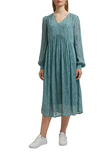 ESPRIT Collection 031EO1E309 Vestido, 463/Dark Turquoise 4, 40 para Mujer