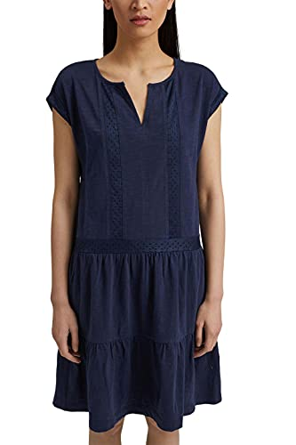 Esprit 051EE1E321 Vestido, 400/azul Marino, S para Mujer