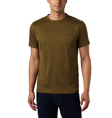 Columbia Zero Rules, Camiseta de manga corta, Hombre, Verde (New Olive), Talla L