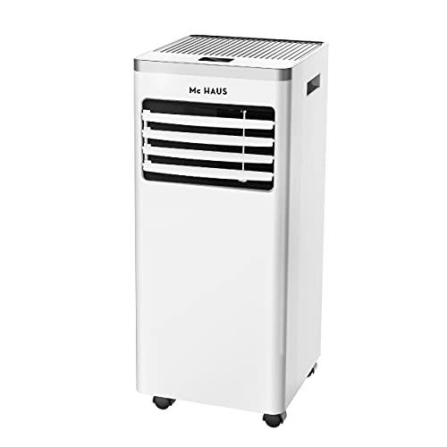 Mc Haus ARTIC-12 - Aire acondicionado portátil, 7000 BTU enfriador movil, sistema SILENTBLOCKS, clase A, 3 en 1: refrigerador, ventilador y deshumidificador, mando a distancia, para 20m², Blanco