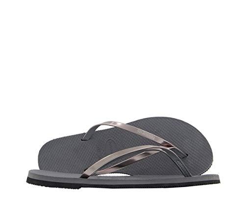 Havaianas You Metallic, Sandalias para Mujer, Plateado (Steel Grey), 35/36 EU
