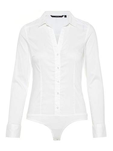 Vero Moda VMLADY L/S G-String Shirt Noos Blusas, Blanco Nieve, S para Mujer