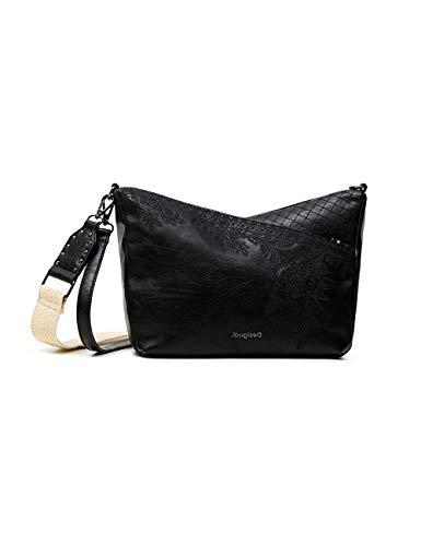 Desigual PU Body Bag, Bolsa para cuerpo de Across para Mujer, negro, U