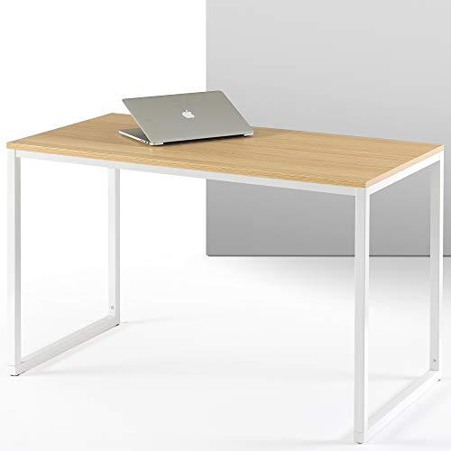 ZINUS Jennifer 119 cm Escritorio para ordenador portátil | Escritorio de estudio para oficina en casa | Montaje sencillo | Estructura metálica | Natural
