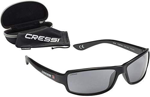 Cressi Ninja Floating - Gafas Flotantes Polarizadas para Deportes con una protección 100% UV Adultos Unisex, Negro/Negro