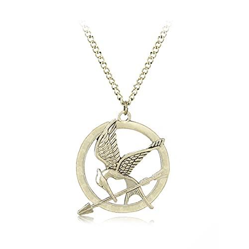 I3C The Hunger Games - Collar con colgante de Mockingbird de doble cara para Halloween