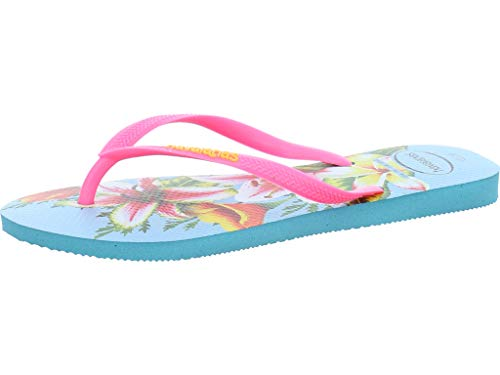 Havaianas Slim Floral, Chanclas para Mujer, Multicolor (Blue 0031), 39/40 EU