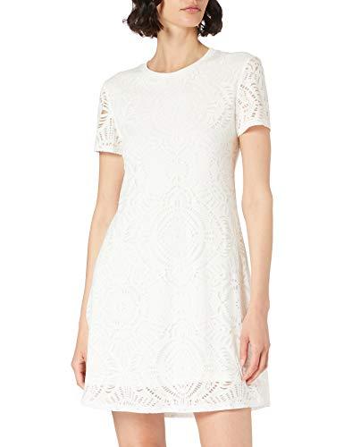 Desigual Vest_Nilo Vestido Casual, Blanco, S para Mujer