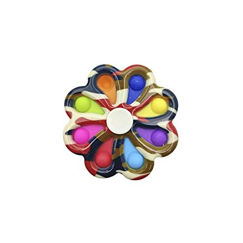 EUROXANTY Fidget Spinner con Burbujas Relajantes | Juguete para niños | Juguete Antiestrés | Fidget Spinner Mejorado | 9 x 9 Centímetros | Multicolor |