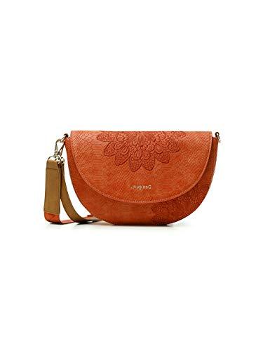 Desigual PU Body Bag, Bolsa para Cuerpo de Across para Mujer, Naranja, U
