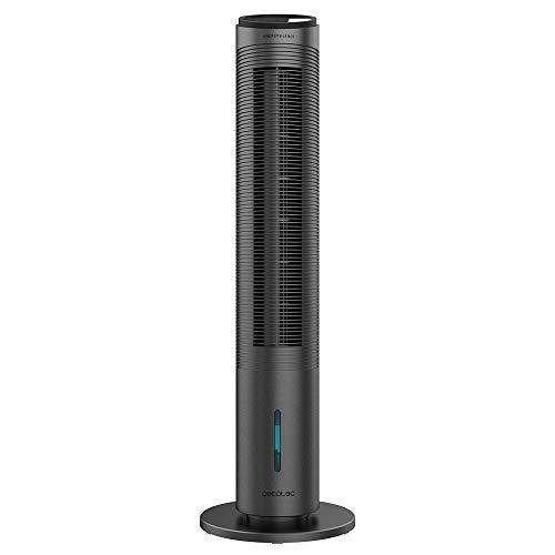 Cecotec Climatizador evaporativo de Torre EnergySilence 2000 Cool Tower Smart.Potencia 60 W, depósito extraíble de 2 L, 3 velocidades, 3 Modos con oscilación, Temporizador, Control táctil