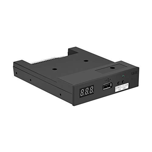 Richer-R 3.5 Inch Unidad de Disquete,Emulador de Disquetera USB para Equipos de Control Industrial con Unidad de Disquete de 720 KB.(Negro)