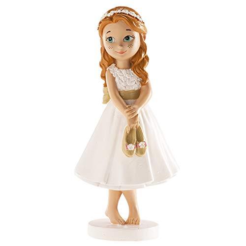 Dekora - Figura Decorativa Niña para Tarta de Primera Comunion - 13 cm