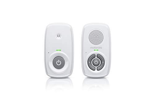 Motorola Baby MBP21 - Vigilabebés de audio DECT con 300 metros de alcance y micrófono de alta sensibilidad - Blanco