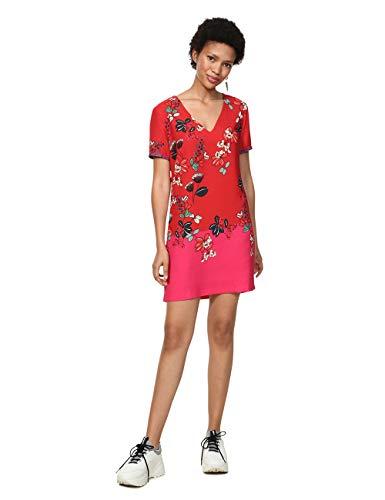 Desigual Debrecen Vestido, Rojo (Salmon Palido 3015), 46 para Mujer