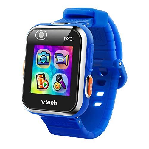 VTech - Kidizoom Smart Watch DX2, Reloj inteligente para niños, doble cámara de fotos, vídeos, juegos, color Azul, Versión ESP (80-193822)