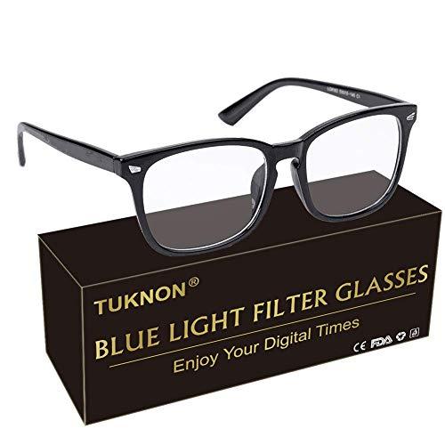 Gafas Luz Azul, Gafas Antifatiga, Gafas Anti-luz Azul, Blue Light Blocking Glasses, Gafas para Ordenador Gaming PC para Hombre Mujer