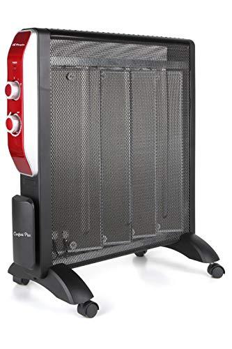 Orbegozo RMN 2050 - Radiador de mica, 2 potencias de calor, termostato regulable, sin fluido, protección contra sobrecalentamiento, recogecables, 2000 W