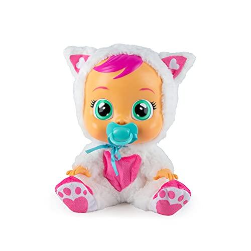 Bebés Llorones Daisy - Muñeca interactiva que llora de verdad con chupete y pijama de Gatita