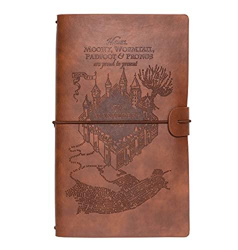 Grupo Erik CTBV001 - Cuaderno de viaje, Cuaderno de notas de cuero Harry Potter, 12x19,6x1,7 cm