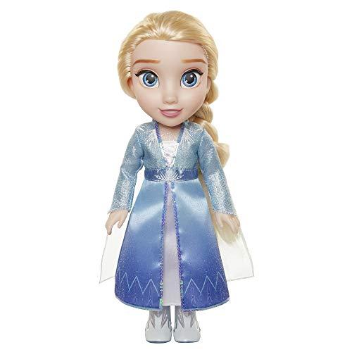 Elsa con Vestido de Viaje, Frozen II, muñeca Grande 38 cm