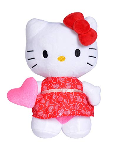 Hello Kitty - Peluche 20cm, 4 Modelos Disponibles con Diferente Ropa y Accesorios, Recibirás un Modelo de Forma Aleatoria, No es Posible Hacer Preselección en Almacén, para Niños a Partir de 0 Meses