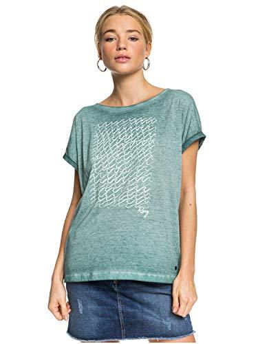 Roxy Summertime Happiness - Camiseta para Mujer Camiseta, Mujer, North Atlantic, XXS
