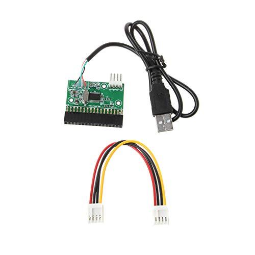 YOURPAI Conector de unidad, 1,44 Mb 3,5 pulgadas adaptador de cable USB a 34 pines de disquetera conector U disco a disquetera, verde